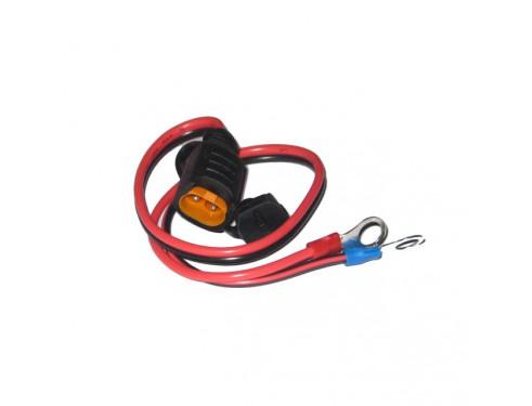 Conector batería con ojillo M8