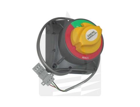 720-MDO-EP Paralelo de emergencia 500 Amperios. Permite la carga de dos bancos de baterías como si se tratara de uno solo