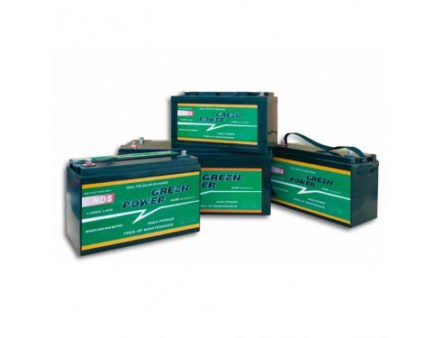 GP140 Batería AGM Green Power, 12V 140Ah Batería de servicio de alto rendimiento, con tecnología AGM (fibra de vidrio absorbida) y diseñada para su uso en vehículos de servicio o de recreo.