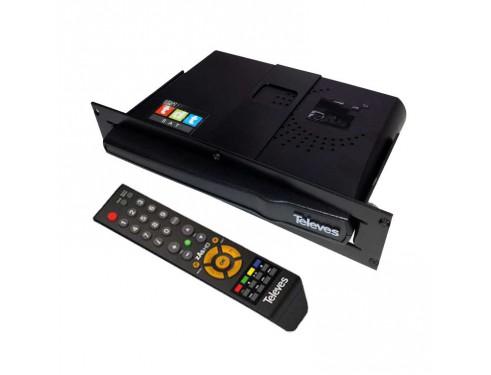 KIT SATTDT CV Kit receptor TDT ZAS con mando. Permite disfrutar de los mismos canales de televisión que en casa aunque estemos en zonas sin cobertura TDT terrestre.