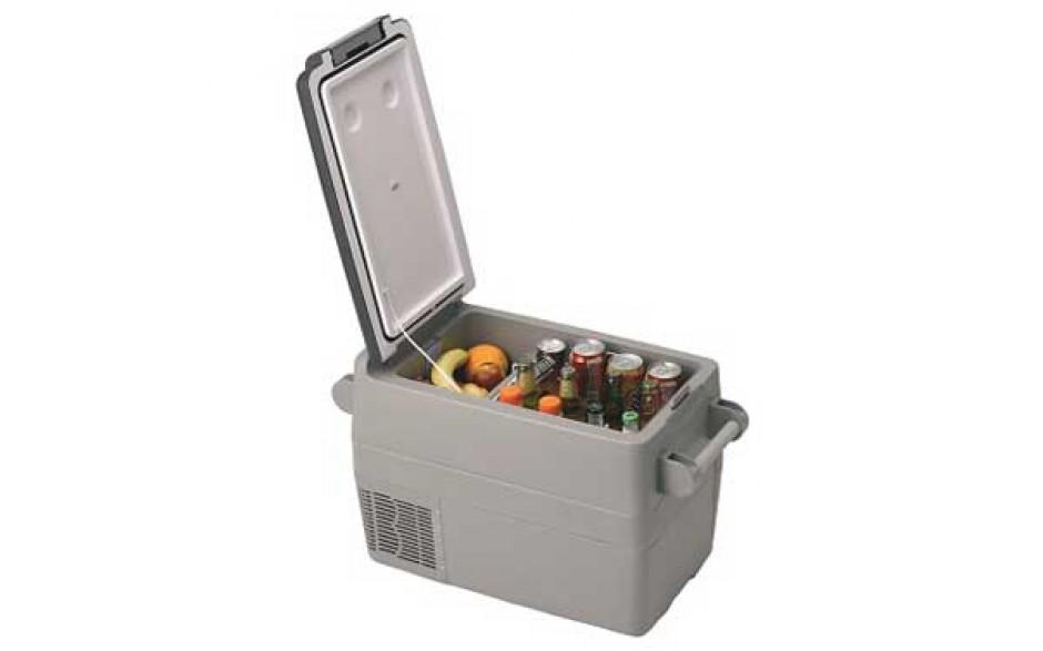 TB041NN33BAN Nevera portátil de 41 litros, 12/24VCC - 45W. Concebido para ser instalado en pequeños espacios o bien para poder ser fácilmente transportado a cualquier parte gracias a su peso reducido y a la cómoda correa.