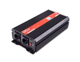 3741243000M Inversor 24V/230V, 3000W, onda sinusoidal modificada, soft-start. TUV.  Analiza las cargas que existen en la salida del equipo para suministrar gradualmente la tensión requerida, evitando así el suministro de una potencia innecesaria