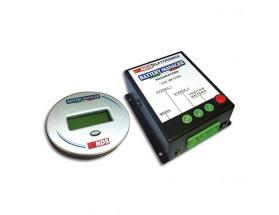 BM12-100 Supervisor de baterías con avisador SMS. Este supervisor de baterias monitorea constantemente la batería de servicio y evita que  esta se agote excesivamente. El módulo GSM incorporado envía un mensaje a su teléfono móvil informándole sobre el es