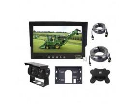 """KIT MS-710C Kit MS-710, con monitor 7"""", cámara de visión nocturna CAM-421 y cableado. Vista frontal de todos los componentes"""